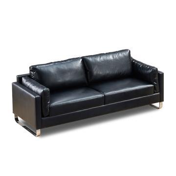 沙发款式二,三人位,DT-sf007 西皮 黑色