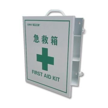 安赛瑞 急救箱(空箱),白色粉末喷涂钢板,内置2隔板,415×350×148mm,14512