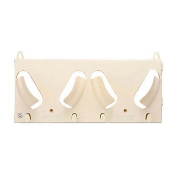 安赛瑞 安全帽放置架(双帽),乳白色,240×550mm,12050