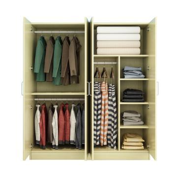 西域推荐 四门衣柜,白枫色 防火板140*50*180cm
