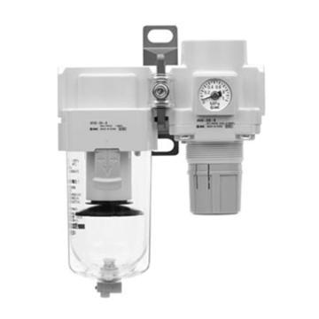SMC 二联件,空气过滤器+减压阀,AC60B-10E-B