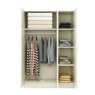 西域推荐 三门衣柜,暖白色 防火板120*50*180cm