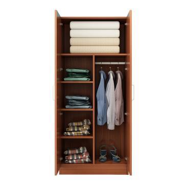 西域推荐 二门衣柜,柚木色 防火板80*50*180cm