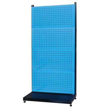 信高 固定型单面物料架(4方孔),960*385*1964mm,KR-1440,蓝色,散件发货,安装费另询
