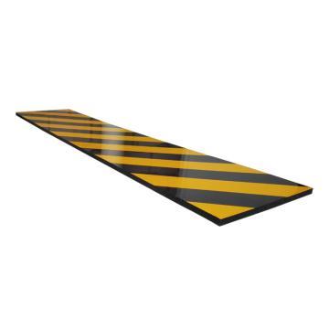 安赛瑞 防撞棉,PU海绵材料,黄黑条纹,自带背胶,200×1000×10mm,11892