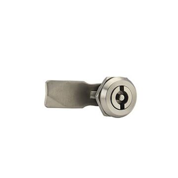 恒珠 转舌锁,机柜锁通开,一字芯,MS705-2S-2,不锈钢,带钥匙