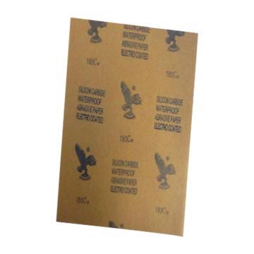 鹰牌 耐水砂纸,碳化硅,230×280mm,400#,100张/包