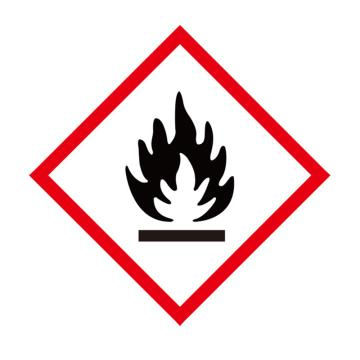 安赛瑞 GHS标签-易燃品,高性能不干胶,100×100mm,39643,50片/包