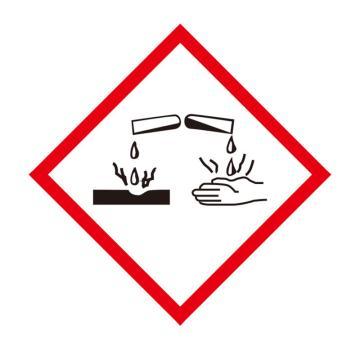 安赛瑞 GHS标签-腐蚀品,高性能不干胶,100×100mm,39644,50片/包