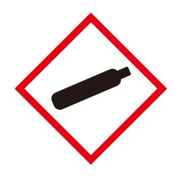 安赛瑞 GHS标签-气体罐,高性能不干胶,50×50mm,39641,50片/包