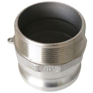 """CAFER SS316快速接头F型,外牙插头,XYCAML-008-0500-2,1/2"""",BSPT外螺纹"""