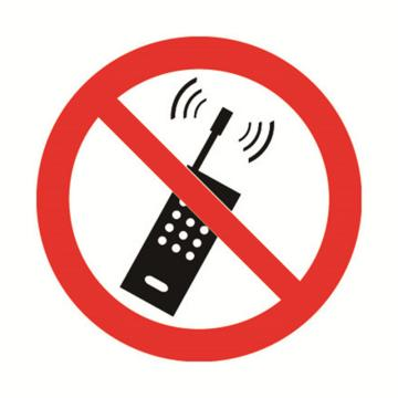 安赛瑞 GB安全警示标签-禁止使用手机,Ф50mm ,32606,10片/包