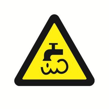 安赛瑞 GB安全警示标签-当心蒸汽和热水,边长100mm ,32829,10片/包