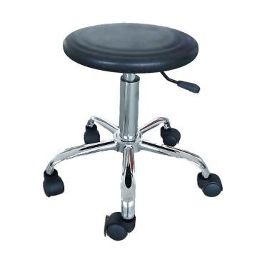 佰斯特 防静电聚氨酯圆凳,425-565mm 防静电轮 椅面不带防滑花纹(不含安装),Y-1B(移动)