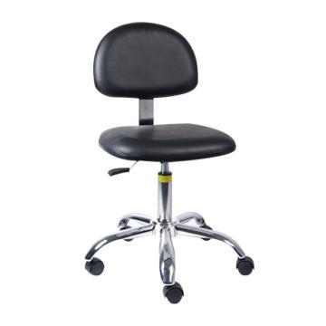 佰斯特 导电型PU工作椅,465-605mm 弹簧钢 黑色 防静电轮 椅面不带防滑花纹(不含安装),Y-8A