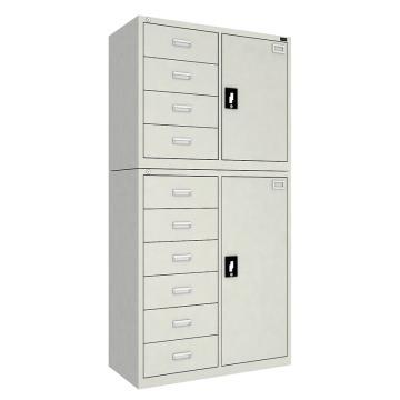 佰斯特 防静电工具柜,(上四抽单开门柜 下六抽单开门柜)900*440*1800 钢板厚(mm):0.8,CH-13-08E