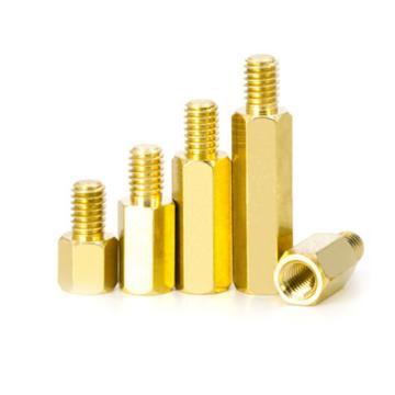 六角间隔柱,M3X6+6,黄铜H59,10个/包