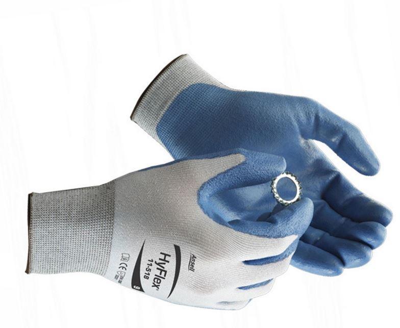 安思尔Ansell 3级防割手套,11-518-9,HyFlex系列手掌PU涂层,1副