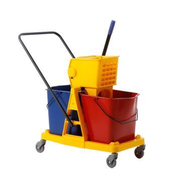 白云大号高级双桶榨水车,AF08073 46L挤水车墩布桶清洁桶