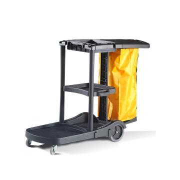 白云多功能用途清洁车,AF08180 垃圾车塑料手推车杂物车水桶车