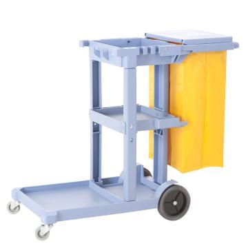 白云多用途清洁杂物车,AF08160A 灰色 手推车 餐车 服务车 清洁车