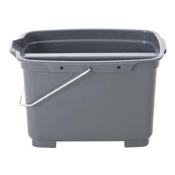 白云清洁桶,AF08403灰 双格塑料收纳垃圾筒 水桶 保洁餐厅整理杂物桶