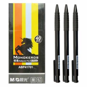 晨光 M&G 圆珠笔,ABP41701 0.7mm (黑色),40支/盒 单位:盒(替代:MWW830)