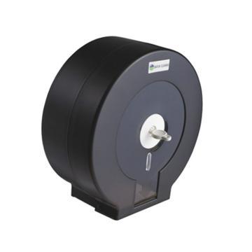 白云黑色大盘纸盒半透明大卷纸盒,AF10521 大盘纸架 厕纸手纸盒