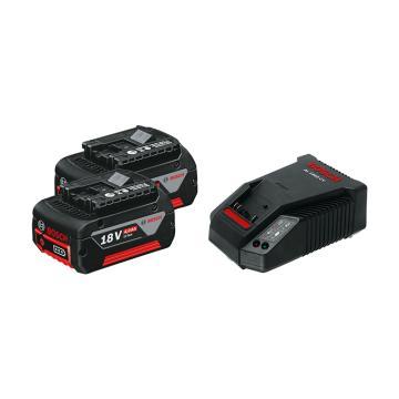 博世BOSCH 电池套装,全新EneRacer 18V 4.0Ah 2电1充套装,1600A01B71