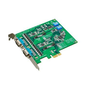 研华Advantech 2端口RS-232 PCIE串口卡,带浪涌及隔离保护,PCIE-1604C-AE