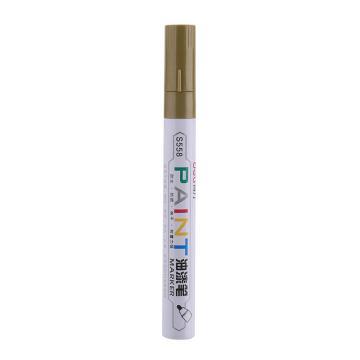 得力 记号笔 油性记号笔,S558金色,12支/盒 单位:盒 (替代:RNL666)