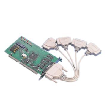 研华Advantech 4端口 RS-232 ISA串口卡,带浪涌保护,含一根DB9数据线,PCL-849A/9-BE