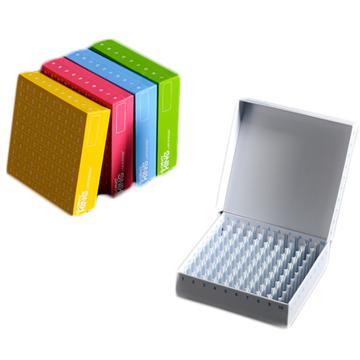 巴罗克(BIOLOGIX) 彩色翻盖高端纸冷冻盒,2英寸、100格、133x133x52mm 5个/盒,4盒/箱
