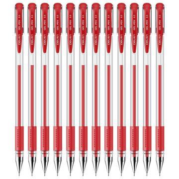 得力 中性笔,6601 红色,12支/盒 单位:盒 (替代:RAM649)