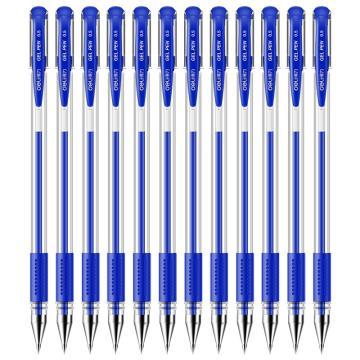 得力 中性笔,6600ES 蓝色,12支/盒 单位:盒 (替代:RAM647)