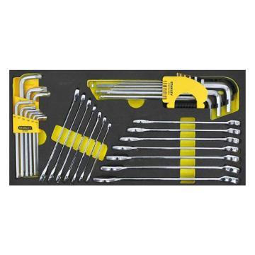 史丹利 EVA工具托组套,32件两用扳手及内六角扳手,90-035-23