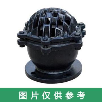 西域推荐 铸铁法兰底阀,H42X-2.5,DN200