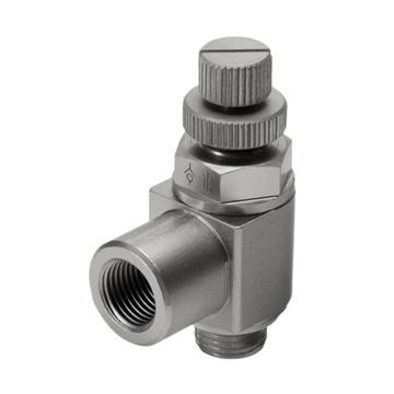 费斯托FESTO 节流阀,L型,沟槽螺钉,双向节流,GRLA-M5-RS-B,151163