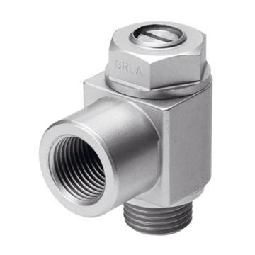 费斯托FESTO 节流阀,L型,沟槽螺钉,排气节流,GRLA-1/2-B,151179