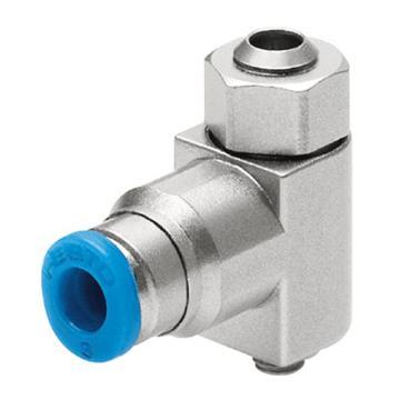 费斯托FESTO 小型节流阀,L型,沟槽螺钉,双向节流,GRLO-M5-QS-4-LF-C,175057