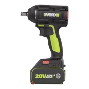 威克士充电式无刷冲击扳手, 1/2寸方头 300Nm, 20V 5.0Ah电池, WU296