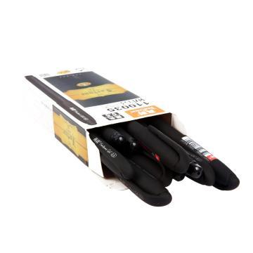 真彩 财富拔帽式中性笔,110035(黑色) 0.5mm,12支/盒 单位:盒(替代:EDG491)