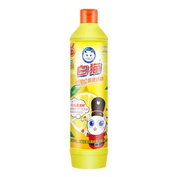 白猫柠檬红茶洗洁精, 500G/瓶 无磷