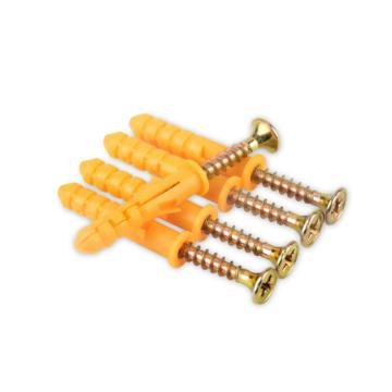 西域推荐 黄色塑料膨胀螺丝,10*120,50个/盒