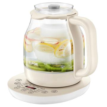 苏泊尔养生壶,SW-15Y02 煮茶壶玻璃电水壶烧水壶炖煮两用壶多功能