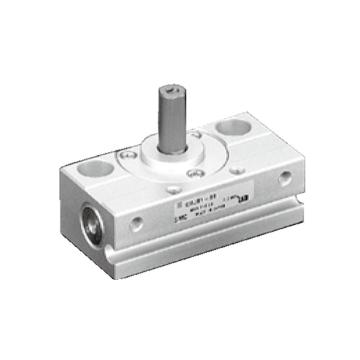 SMC 微型齿轮齿条式摆动气缸,CRJU05-90