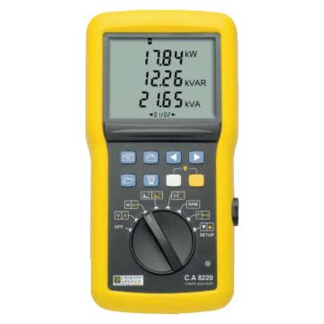 法国CA/CHAUVIN ARNOUX 单相电能质量分析仪,C.A 8220 含1个Ampflex A193电流钳