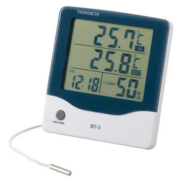 亚速旺 ASONE 带闹钟大屏温湿度计 BT-3(1个入)