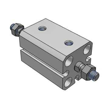 SMC 薄型气缸,双杆双作用,CDQSWB12-10DCM