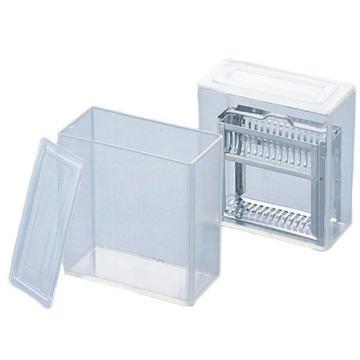 亚速旺(ASONE)TPX染色盒 立式 15枚用,2-3029-01